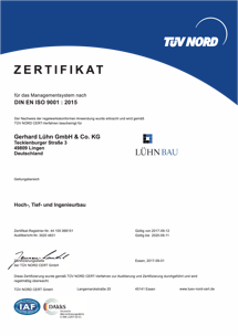 QM-Zertifikat bis 2020.09.11
